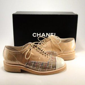 CHANEL Tweed Oxfords